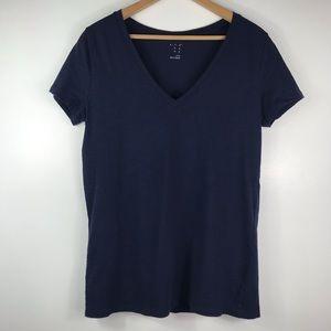 A New Day | Navy V-neck T-Shirt